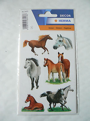 3 Planches Stickers  Chevaux