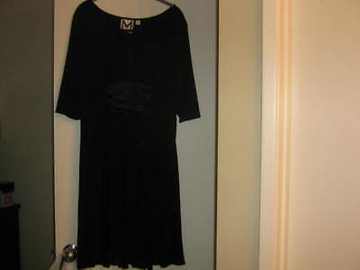 M by Marc Bouwer Matte Jersey Dress With Charmeuse Inset Size L NWOT