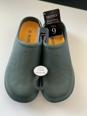 Briers Traditional Green Garden Clogs Outdoor Footwear Gardening Shoes Size UK 9