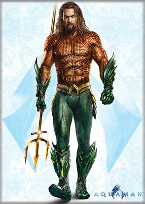 "2 1/2"" X 3 1/2"" Aquaman The Movie Full Body Arthur Curry Refrigerator Magnet New"