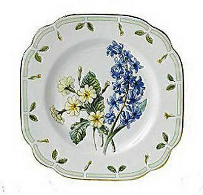 6 Royal Albert Botanical TEAS SQUARE SALAD / DESSERT PLATES - New - Boxed