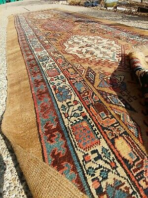 Antique Serab Runner Rug NW Persian Azeri Tribal AMAZING S. Caucasian Bakshaish