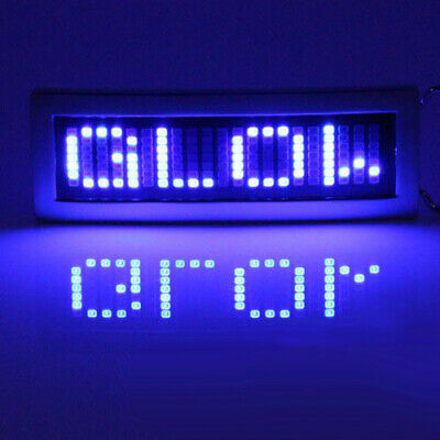 Programmable Scrolling Message Display LED Flash Light Belt Buckle DIY Text 🇬🇧