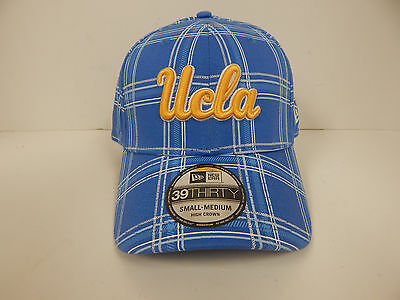 best service f8385 6ee4c New Era 39Thirty UCLA Bruins Blue Plaid High Crown Fitted Cap  Size-Small Medium