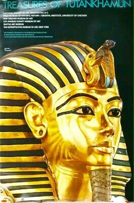 TREASURES OF TUTANKHAMUN 1976  Metropolitan Museum of Art Exhibition POSTER- NEW