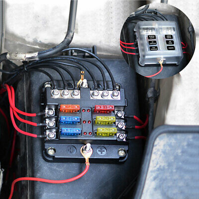 Groovy Universal Dc 12V Car Marine 6 Way Relay 6 Slot Blade Fuse Holder Wiring 101 Tzicihahutechinfo