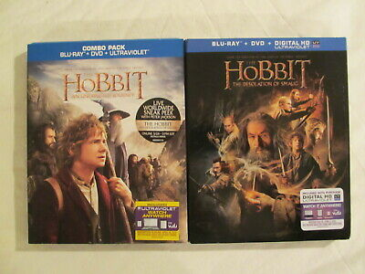 Lot of 2 Blu-ray The Hobbit: The Desolation of Smaug & An Unexpected Journey