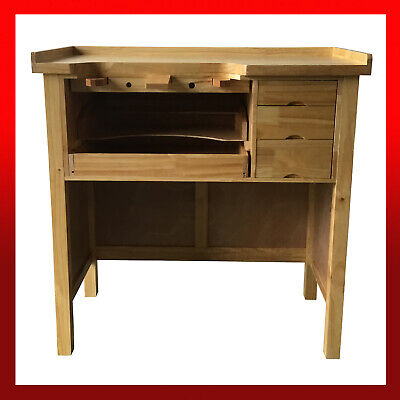 WNS Pinewood Jewellery Workbench / Wooden Craft Table Hobby Carpentry Crafting