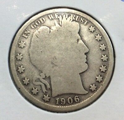1906-O 50C Barber Silver Half Dollar in Good Condition