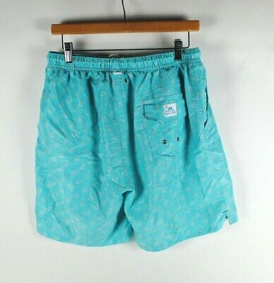 7dee6a78da Peter Millar Swim Trunks Shorts Mesh Lined Pockets Drawstring Print Mens  Large