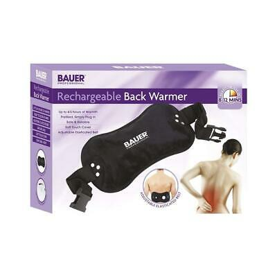 Bauer Rechargeable Electric Hot Water Bottle Back Massaging Pad Soft Touch Cover