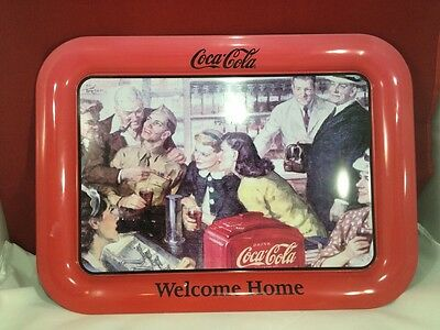 "Coca-Cola 2003""welcome Home!"""" Metal Tray"