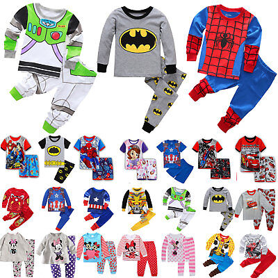 Kid Boy Girl 2Pcs Cartoon Sleepwear Baby Nightwear Pjs Pyjamas Casual Outfit Set