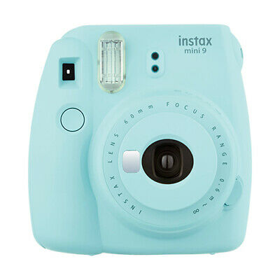 Fuji Instax Mini 9 Fujifilm Instant Film Camera Ice Blue- FOR PARTS/ REPAIR