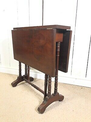 Small Antique Sutherland Table. Small Drop leaf Gate Leg Side Table