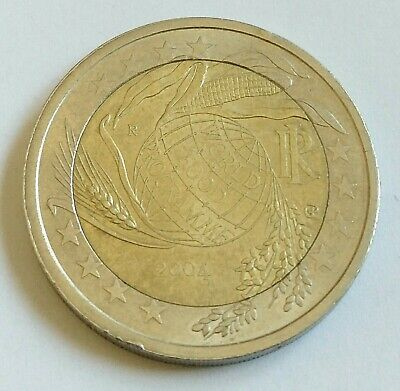 Coins Paper Money Italy 1861 Now Europe Italy 2 Euro 2004 World Food Programme Bimetallic Unc Zsco Iq
