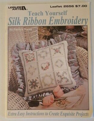 Leisure Arts Teach Yourself Silk Ribbon Embroidery Leaflet Booklet #2656 (54)