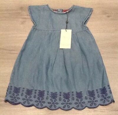 Baby Girls Angel& Rocket Denim Dress New With Tags Age 12-18 Months