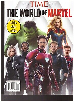 Time Special Edition The World Of Marvel Iron Man Captain America Black Panther