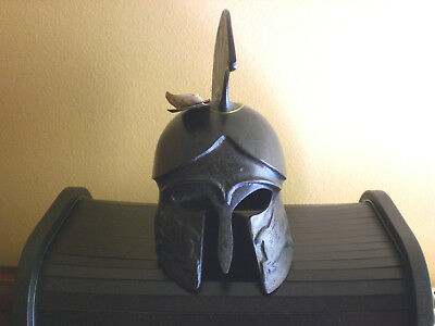 ancient  bronze sculpture handmade oxidation like museum greek helmet