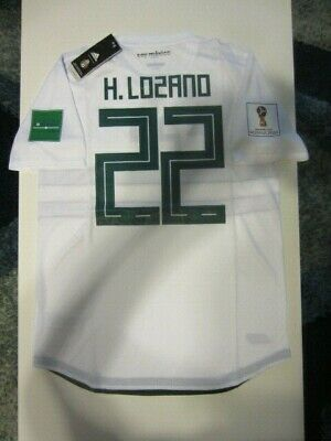42934ad9a2d Adidas Hirving Lozano Mexico 2018 World Cup Away Authentic Player Jersey  Patches