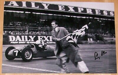 Stirling Moss Formula One F1 Personally Hand Signed Autograph 12X8 Photo