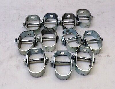"""1"""" Pipe Clevis Hanger Clamp, 3/8"""" Rod Size, Lot Of 11"""