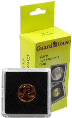 5 Guardhouse Tetra 2x2 Coin Holder Snap Capsule 19mm Penny Cent Indian Head Case