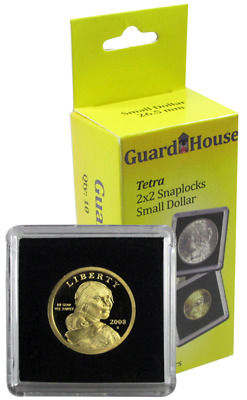 10 Guardhouse Tetra 2x2 Coin Holder Snap Capsule 26.5mm Small Dollar Storage