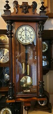 Vintage Roche Grubber Twin Weight Driven Vienna Clock with Strike