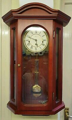 Mahogany Hermle Westminster Chiming Wall Clock