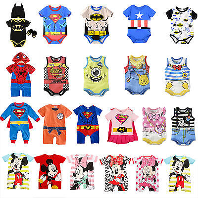 Newborn Infant Baby Cartoon Romper Outfits Comfort Bodysuit Jumpsuit Clothes Set