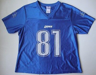 Discount NIKE DETROIT LIONS Men's Official Calvin Johnson #81 Embroidered