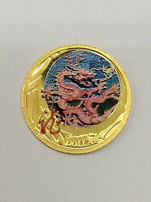 2012 Australian Year Of The Dragon Colored 1/10 Gold Proff