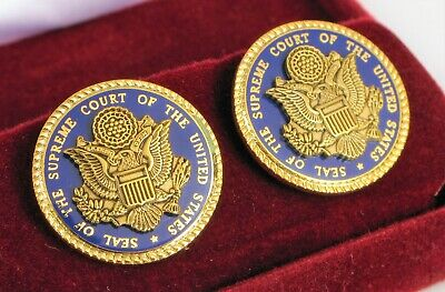 Vintage Seal Of The Supreme Court Of The United States Of America Cuff Links !