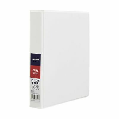 J.Burrows Insert Binder A5 2 D-Ring 25mm White