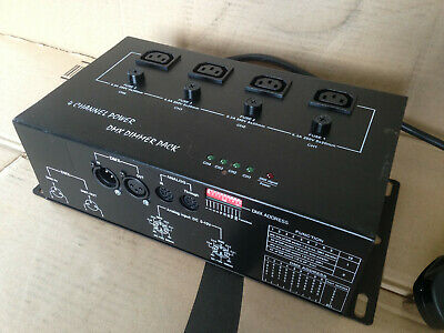 SoundLAB G018VA 4 Channel Analogue & DMX Controlled Dimmer (IEC Ouputs)