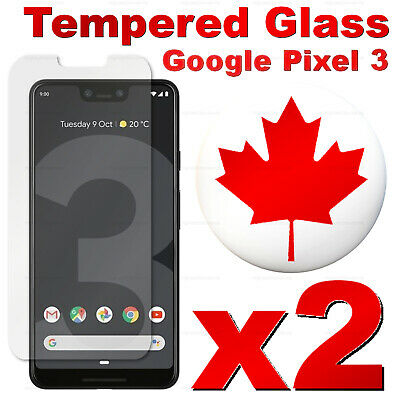 Premium Tempered Glass Screen Protector For Google Pixel 3 | Pixel 3 XL (2 PACK)