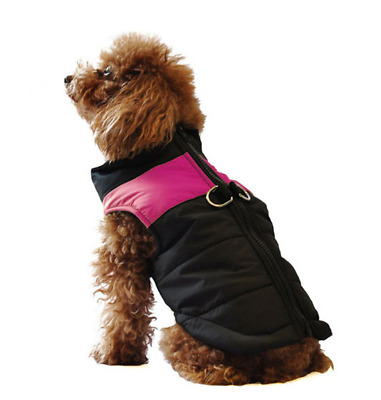 ubest Dog Jumper Waterproof with D-Ring Warm Padded Puffer Vest RoseRed 2X-Large