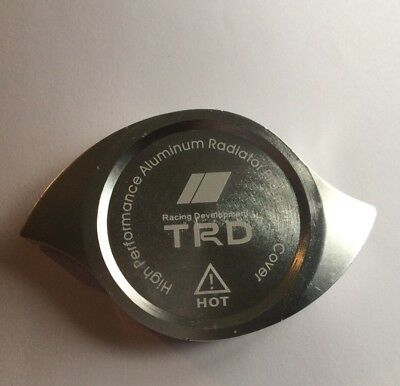 Trd Radiator Cap Cover Silver Heavy Duty