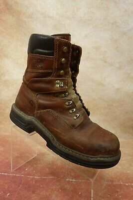 692fd765d9b WOLVERINE WORK BOOTS Mens Marquette Brown Leather Steel-Toe Boots EH ...