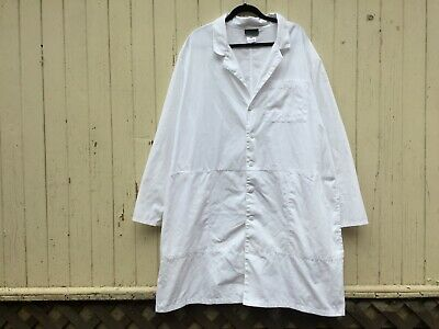 MINIMALIST OVERSIZED WHITE LAB COAT jacket duster unisex men's plus size 2XL