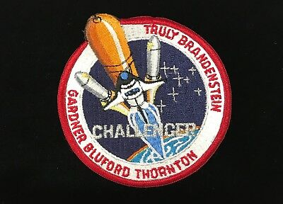 Historical Memorabilia Space Shuttles Large Space Shuttle Sts-8 Challenger Bullion Embroidery Patch