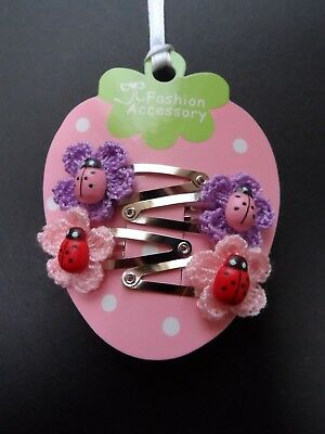 girls/baby hair clips, snap clips, slides mini/small hair clips flower ladybirds