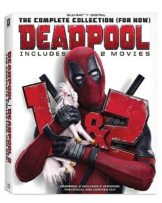 MARVEL DEADPOOL 1 + 2 Collection Blu-ray Set w/ Super Duper Unrated Version
