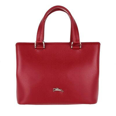 c789978662f0 NWT LONGCHAMP Honore 404 Sml Leather Satchel Shoulder Bag RED $550 AUTHENTIC !