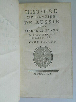 Voltaire History of 'em Worse of Russia on Stone the Grand T2 S.N S.L.1763