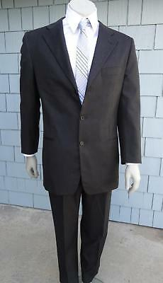 ANTONIO FUSCO x BERGDORF GOODMAN SZ 52 L MEN's WOOL Suit BLACK 3 button blazer