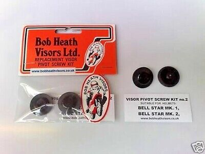 Bell,Helmet,Star,1+2,Visor,Pivot Posts/Screws Kit- Bob Heath Visors, Kit 2