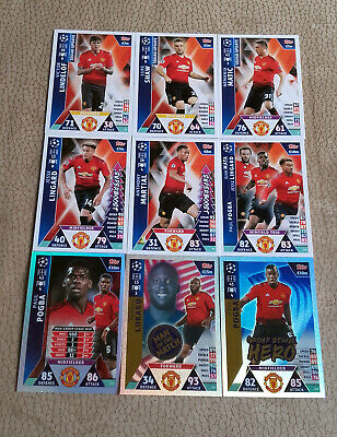 MANCHESTER UNITED SET - Road to Madrid 2019 - Match Attax cards - Complete Set